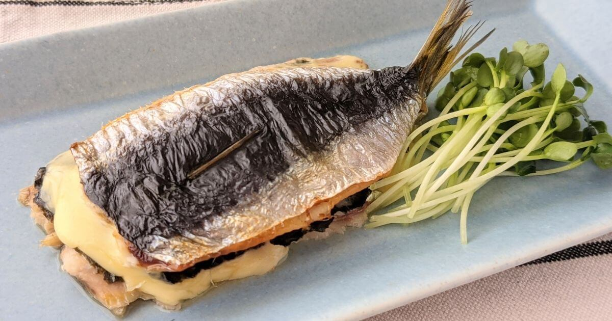 トースターで簡単!いわしの海苔醤油チーズミルフィーユ