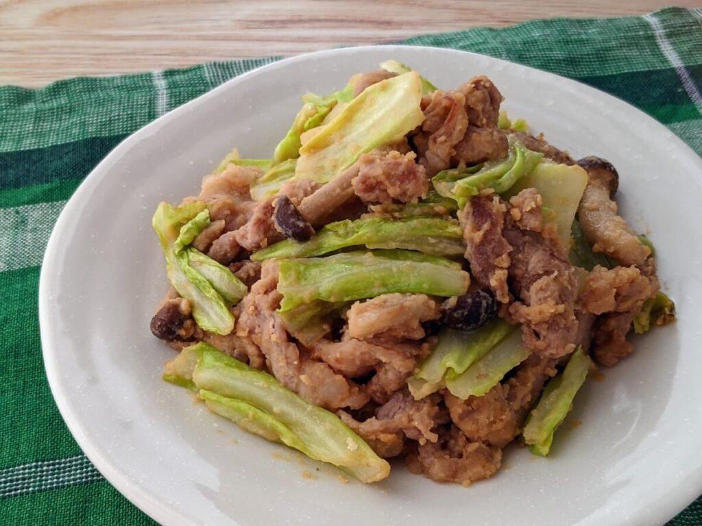 豚肉とキャベツのはちみつ味噌おからパウダー炒め豚肉とキャベツのはちみつ味噌おからパウダー炒め