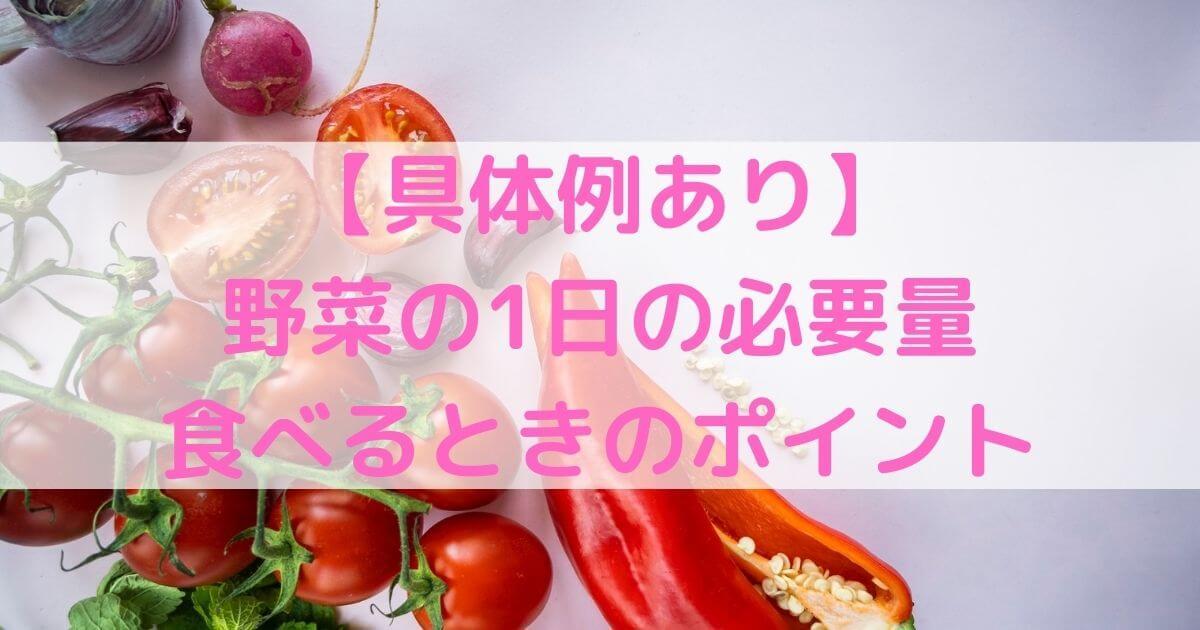【具体例あり】野菜の1日の必要量と食べるときのポイントを解説!