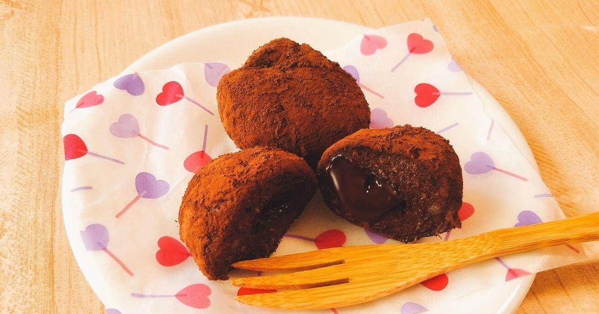 【レシピ】[砂糖なし]電子レンジで簡単!チョコIN米粉おから甘酒チョコ餅