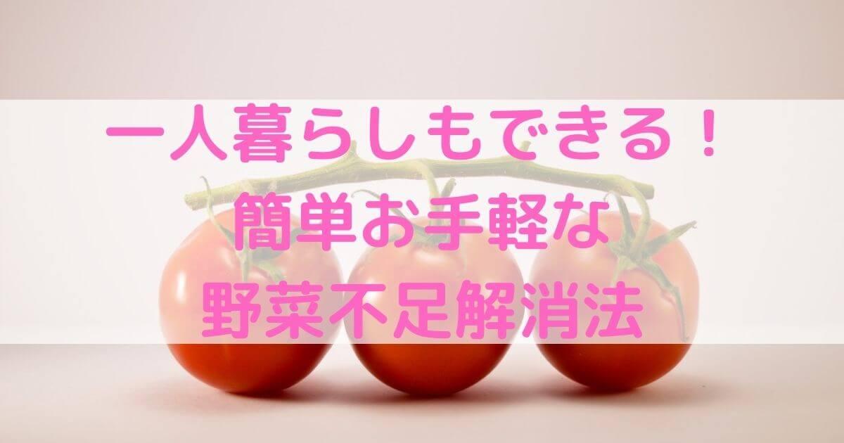 【レシピあり】一人暮らしもできる!簡単お手軽な野菜不足解消法