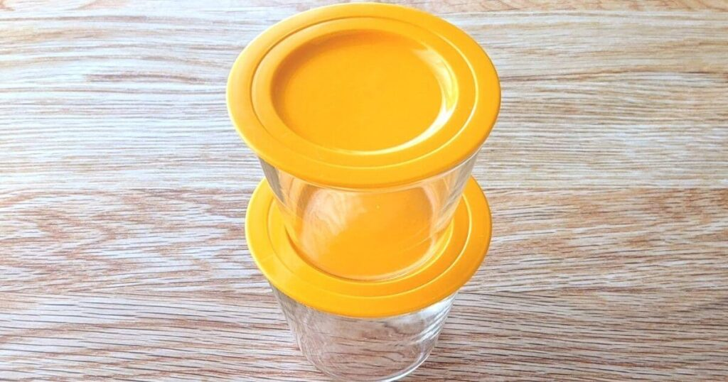 一人暮らしの保存容器に耐熱ガラス製蓋付きプリンカップがおすすめ
