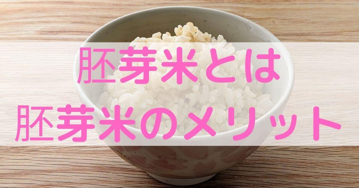 玄米よりおすすめ!茶色い炭水化物・胚芽米とは?&メリット解説