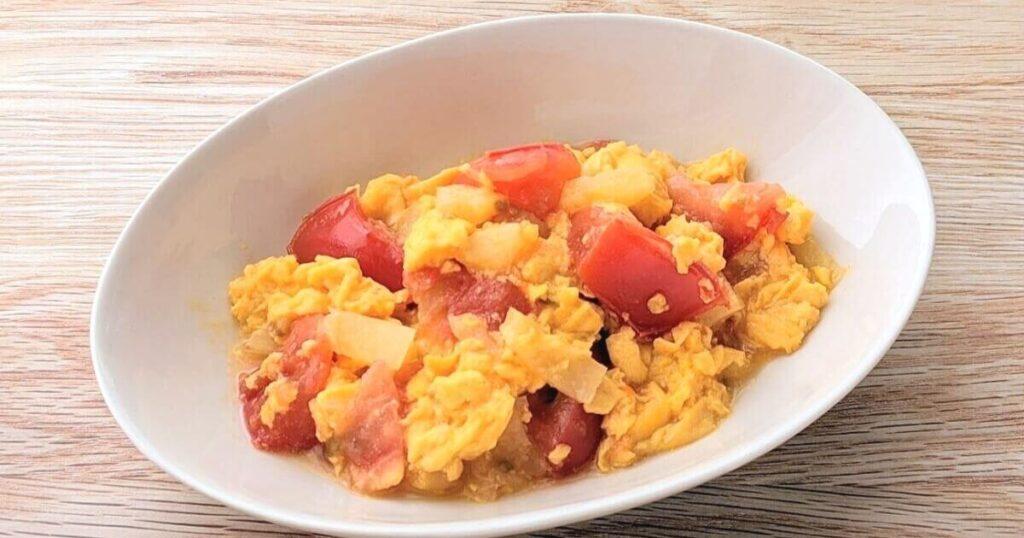 【レシピ】パイナップル入りトマト卵炒め