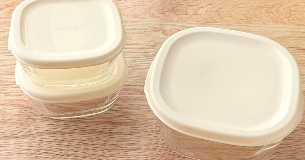 【購入品紹介】ハリオ「保存容器3個セット」は一人暮らし向けサイズ